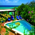 Líbánky na Barbadosu v Little Arches
