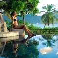 Líbánky na Seychelách v Sainte Anne